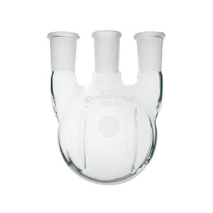 Chemglass CG-1525-26 12000mL Heavy Wall 3 Neck Round Bottom Flask with Vertical