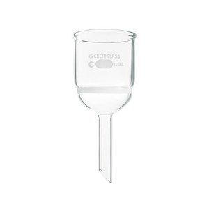 Chemglass CG-1402-35 Buchner Filtering Funnel with Medium Frit, 3 L Capacity