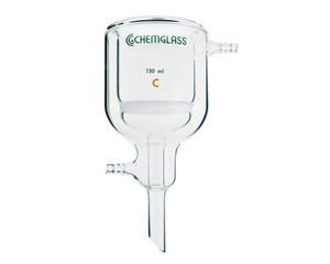 Chemglass CG-1403-15 Jacket Filter Funnel, Medium Frit, 350 mL Capacity