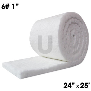 "UniTherm Ceramic Fiber Blanket, 1"" x 24"" x 25', 6lb"