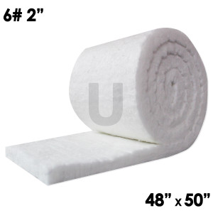"UniTherm Ceramic Fiber Blanket, 2"" x 48"" x 50"", 6lb"