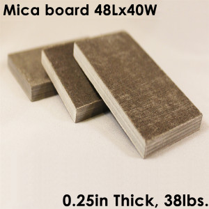 "UniTherm Mica Board Insulation Sheet, 0.25"" Thick, 48"" x 40"""