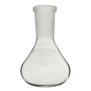 Glass Apollo Flask, Low Profile, 14/20 OJ, Heavy Wall, 25mL