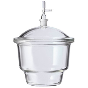 Chemglass CG-8272-R150 2.4L Small Top with 24/29 Stopcocks Pyrex Desiccators