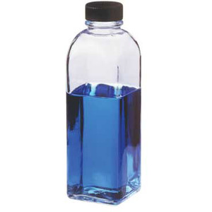 Kimble Square Ungraduated Milk Dilution Bottle, 200ml, Case/48