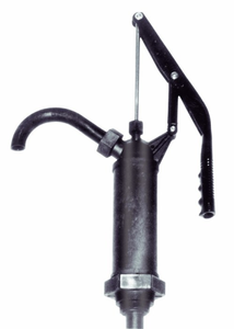 Hand Drum Pump for Aggressive Chemicals, PPS & Stainless Steel, 9 GPM