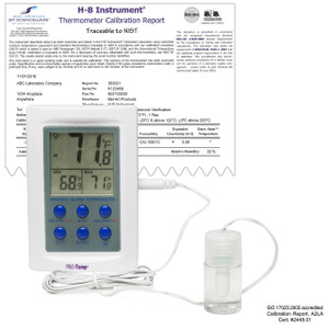 Bel-Art Dual Zone Electronic -50/70c External Verification Thermometer
