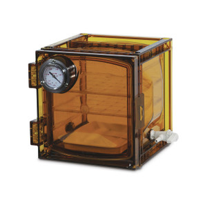 Bel-Art Lab Companion Amber Polycarbonate Cabinet Style Vacuum Desiccator