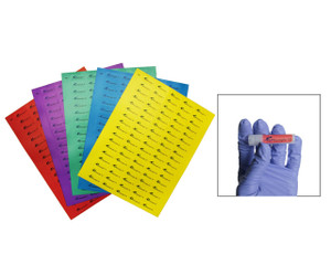 Cryogenic Storage Label Sheets 33 x 13mm 1.5-2ml Tubes Assorted Lables