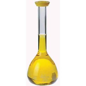 Kimble Class B Volumetric Flasks with Polyethylene Snap Caps, 1000ml, Case/6