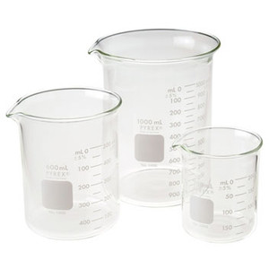 Griffin Beaker Assortment Pack, Low Form, Graduated Pyrex® Glass