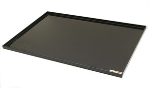 "Spill Tray For Fume Box, Black PP Tray, 1"" Lip"