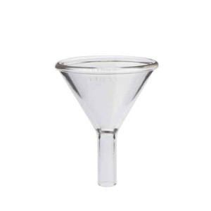 "Kimble 1-1/2"" Stem Powder Addition Funnels, 125ml, Case/12"