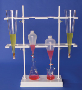 Polyethylene 8.5 x 26 x 29 Inch Imhoff Cone And Separatory Funnel Rack