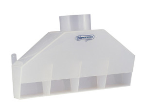 Tapered Rear Exhaust Polypropylene Fume Hood