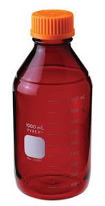 Graduated Pyrex® Media Bottle, 10,000mL, Low Actinic, GL-45