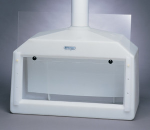 Large Molded Polyethylene 42 x 20 x 30 Inch Fume Hood with Baffle and Acrylic Sash