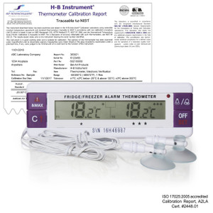 H-B Durac Calibrated Dual Zone Electronic Thermometer with Waterproof Sensors