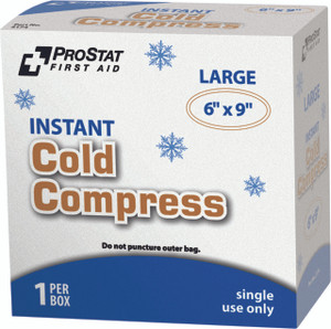 "Instant Cold Compress, 6 x 9"" First Aid Pack, case/24"