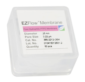 EZFlow 25mm Hydrophobic PTFE Membrane Disc Filter, 50/Pack