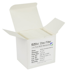 EZBio 47mm MCE 0.45µm Sterile Gridded Disc Filter, 100/Pack