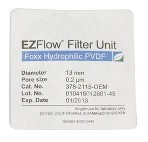 EZFlow 13mm Sterile Syringe Filter Hydrophilic PVDF, 100/pack