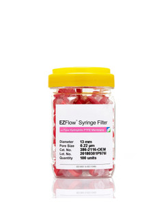 EZFlow 13mm Hydrophilic PTFE Syringe Filter, 100/pack