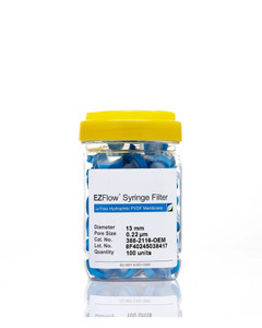 EZFlow 13mm Hydrophilic PVDF Syringe Filter, 100/Pack