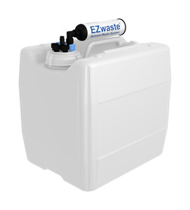 "EZwaste UN/DOT Filter Kit VersaCap S70 4 ports, 3 port and 1 port for 1/4"" HB or 3/8""HB with 13.5L Container"