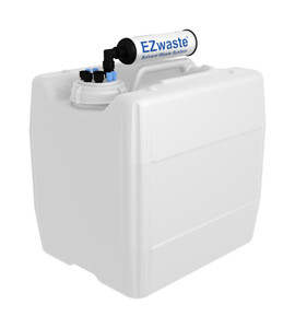 "EZwaste UN/DOT VersaCap S70 4 ports for 1/8"" and 1/4"" OD Tubing with 13.5L Container"
