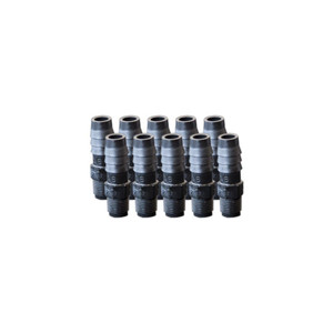"""EZwaste Replacement 1/8"""" MNPT x 3/8"""" HB fittings, 10/Pack"""