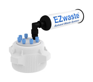 EZwaste Safety Vent 83mm VersaCap 6 Ports for 1/8'' OD Tubing and a Chemical Exhaust Filter