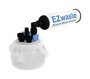 """EZWaste HD VersaCap 83B 4 ports for 1/16"""" and 3 ports for 1/4"""" OD Tubing & Filter"""