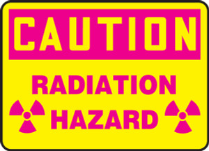 "OSHA Safety Sign - CAUTION: Radiation Hazard, 10"" x 14"", Pack/10"