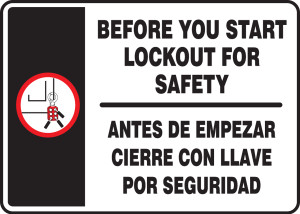 "Spanish Bilingual Safety Sign, 10"" x 14"", Pack/10"