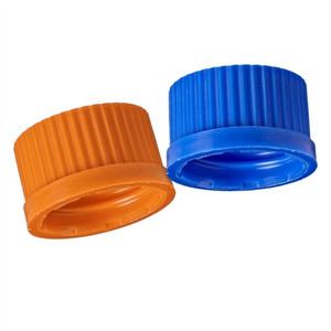 PP Screw Caps, GL32, Blue, pack/10