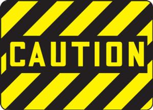 "OSHA Caution Safety Sign - Caution, 10"" x 14"", Pack/10"