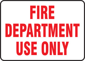 "FDC Reflective Sign: Fire Department Use Only, 10"" x 14"", Pack/10"