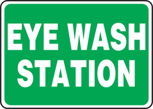 "Safety Sign: Eye Wash Station, 10"" x 14"", Pack/10"