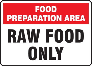"""FOOD SAFETY SIGNS, 10"""" x 14"""", Pack/10"""