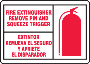"Fire Safety Sign, 10"" x 14"", Pack/10"