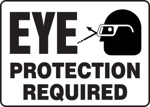 """Safety Sign: Eye Protection Required, 10"""" x 14"""", Pack/10"""