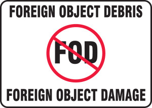 "FOD Poster: Foreign Object Debris - Foreign Object Damage, 10"" x 14"", Pack/10"