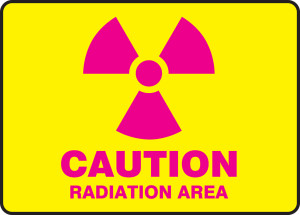 "Safety Sign - CAUTION: Radiation Area, 10"" x 14"", Pack/10"