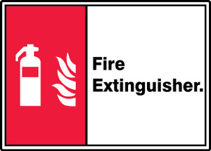 "ANSI ISO Safety Signs: Fire Extinguisher, 10"" x 14"", Pack/10"