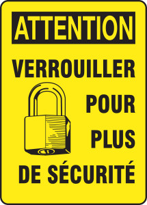 "OSHA Safety Sign - CAUTION: Lock Out For Safety Before You Start, 14"" x 10"", Pack/10"