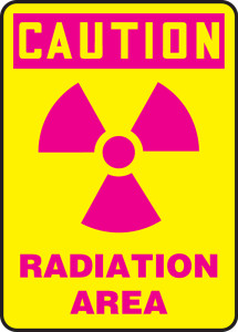 "OSHA Safety Sign - CAUTION: Radiation Area, 14"" x 10"", Pack/10"