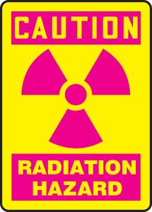 "OSHA Safety Sign - CAUTION: Radiation Hazard, 14"" x 10"", Pack/10"
