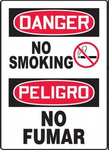 "ENGLISH/SPANISH Danger-No Smoking, 14"" x 10"", Each"