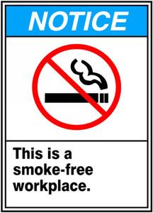 """ANSI SIGN - SMOKING CONTROL, 14"""" x 10"""", Pack/10"""